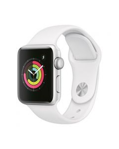 Apple Watch S3 38mm Silver Alum Case w/ White Sport Band [LMS9989]