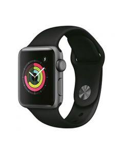 Apple Watch S3 38mm Space Gray Alum Case Watch w/ Black Sport Band [LMS9990]