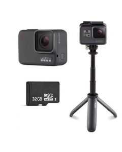GoPro HERO7 Silver with Micro SD Card and The Shorty [LMS9859]