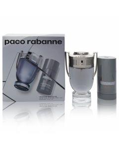 Invictus by Paco Rabanne Gift Set -- 3.4 oz Eau De Toilette Spray + 2.5 oz Deodorant Stick (Men)