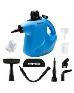 1050W Multi-purpose Handheld Pressurized Steam Cleaner-Blue