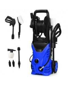 1800W 2030PSI Electric Pressure Washer Cleaner with Hose Reel-Red