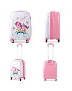 """2 Pcs Kids Luggage Set 12"""" Backpack and 16"""" Kid Carry on Suitcase with Wheels"""