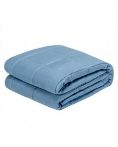 """48""""x72"""" Heavy Weighted 20lb Natural Bamboo Fabric Blanket-Blue"""