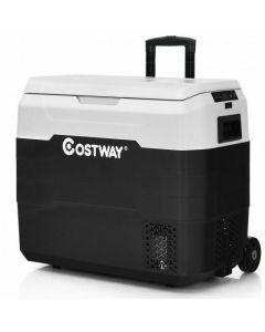 53 QT Portable Dual-Zone Car Refrigerator-White