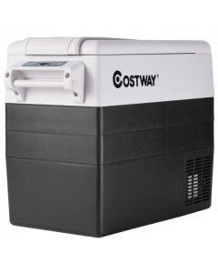55 Quarts Portable Electric Car Refrigerator-Black