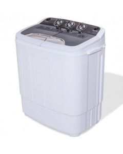 8 Lbs Compact Mini Twin Tub Washing Spiner Machine for Home and Apartment
