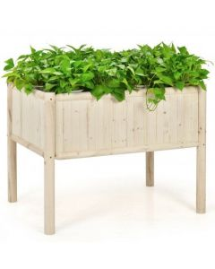 Elevated Wood Planter Box with Fir and Pine Wood Frame