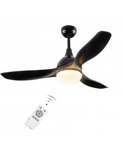 """Modern 48"""" Ceiling Fan with Dimmable LED Light and Remote Control Reversible Blades-Black"""