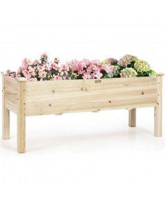 Raised Garden Bed Elevated Planter Box Wood for Vegetable Flower Herb