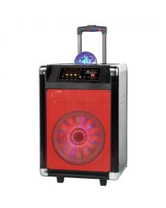 Supersonic 12 in. Portable Bluetooth DJ Speaker in Red
