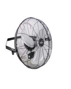 Vie Air Dual Function 18 Inch Wall Mountable Tilting Fan with 3 Speed Motor in Black