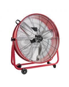 VieAir 24 Inch Commercial Floor Drum Fan in Red