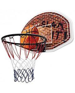 Wall Mounted Fan Backboard with Basketball Hoop and Rim