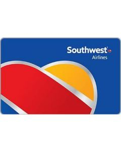 Southwest Airlines $100 Physical Gift Card (delivered by courier)
