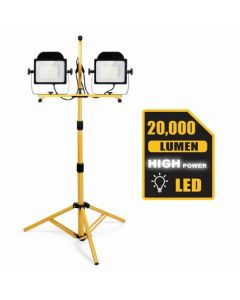 200 W 20 000 lm LED Dual-Head Work Light with Stand