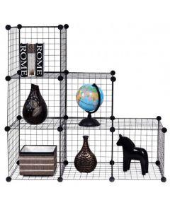 DIY 6 Metal Wire Free Standing Modular Storage Cubes