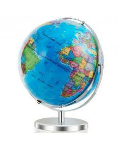 """13"""" Illuminated World Globe 720?° Rotating Map with LED Light"""