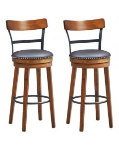 """Set of 2 30.5"""" Swivel Pub Height Dining Chair"""