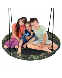 """40"""" Flying Saucer Tree Swing Outdoor Play Set with Adjustable Ropes Gift for Kids"""