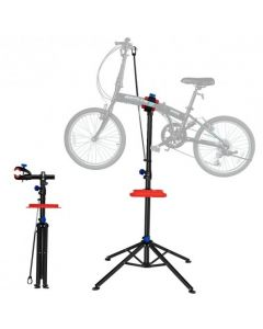 """Pro Bike Adjustable 41"""" To 75' Cycle Bicycle Rack Repair Stand w/ Tool Tray Red"""