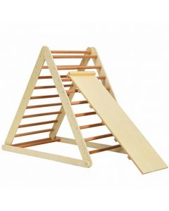 Foldable Wooden Climbing Triangle Indoor Home Climber Ladder